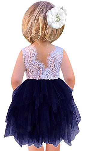 lace detail dress blue - 6