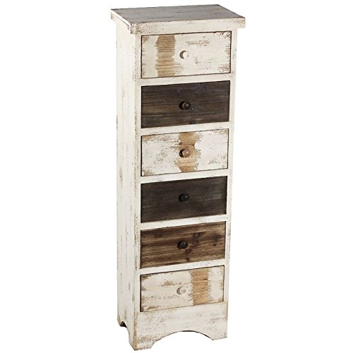 Essential Décor Entrada Collection Wooden Six Drawer Cabinet, 15 by 10 by 46-Inch by Essential Dcor Entrada Collection (Image #1)