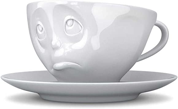 Fiftyeight Grinning Cup 5.5 x 11.5 cm with Saucer 15 cm