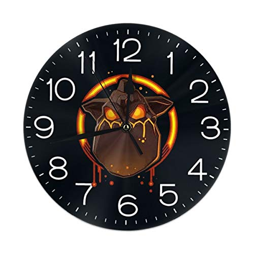 Mdaw232nda Lava Hound Teenage Black Wall Clock, Silent Non Ticking - 10 Inch Round Easy to Read Home/Office/School - Hounds Lava