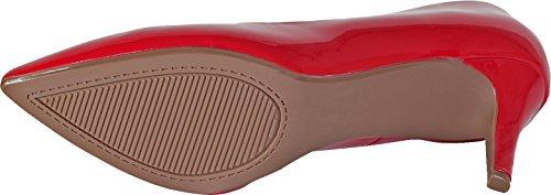 City Memory Heel Pointy Comfort Patent Foam High Super Cushioned Classified Sole Inner h Medium Red Coen Toe Pump SqwUtrSnR