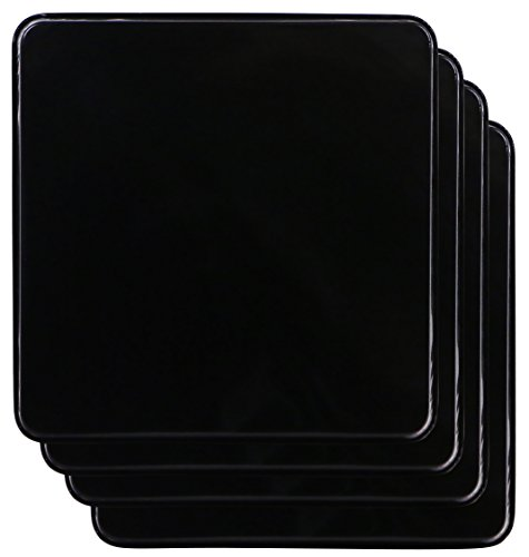 Reston Lloyd G-105-B Square Gas Stove Burner Covers, Set of 4, Black (Gas Range Black)