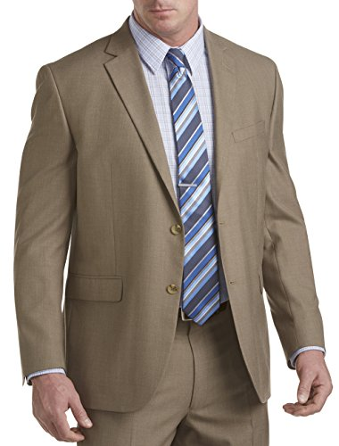 Geoffrey Beene Big and Tall Textured Solid Suit Jacket (60 L, (Textured Suit Jacket)