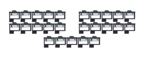 25/Pack 16 Black ink cartridges for Lexmark Compatible with: Color Jet Printer Z34 Z35 Z515 Z2600 Color Jet Printer i3 Z13 Z23 Z24 Z25 Printrio X1155 X1160 X1170 X1180 X1190 (Jet Z13 Printer)