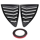 Cuque Car Window Side Louver Vent 1 Pair of Window Louvers ABS Plastic Vent Cover Trim for 86/Scion FR-S BRZ 2013-2018(Carbon Fiber)