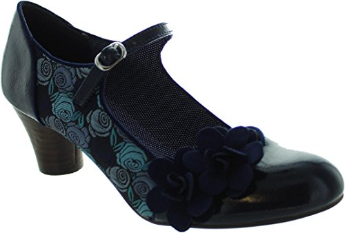 Mid Women's Blue Heel Pumps Mary Jane Ruby Shoo Freya qF4w1Ut