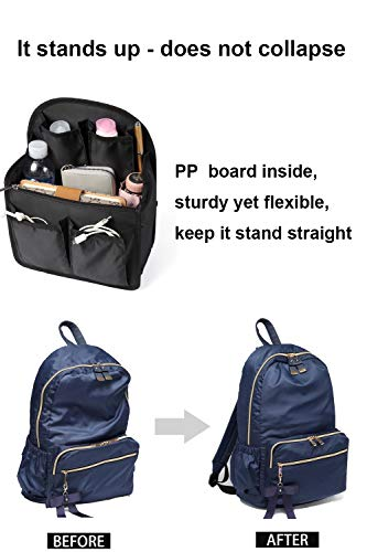 ad2b97a8fa83 14 Pockets Backpack Insert Organizer, Ultra-light Purse Organizer ...