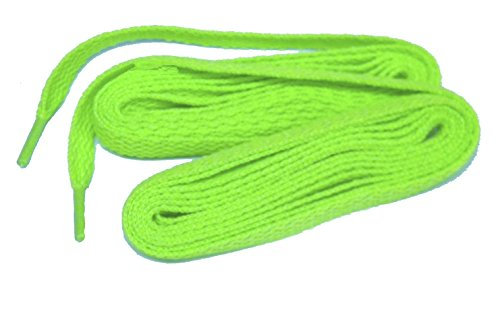 GREATLACES Bright Neon Green proATHLETIC (TM) Flat Sneaker Laces Shoelaces Shoestrings – (2 Pair Pack) (48 inch 122 cm) Review