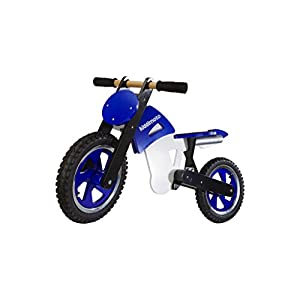 Kiddimoto Scrambler Balance/Running Bike, Blue/White