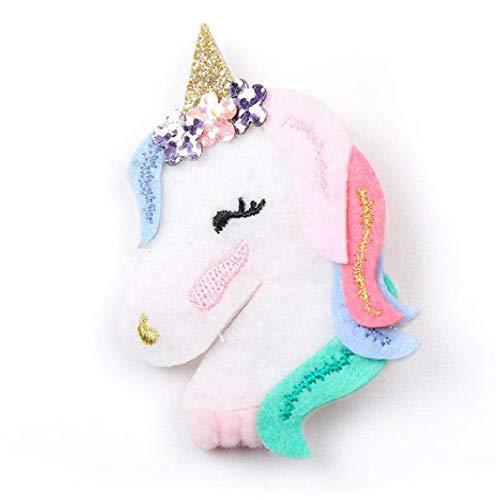 Broche para cabello unicornio y diadema elástica unicornio, kit para niña, La cinta elástica unicornio y el clip unicornio...