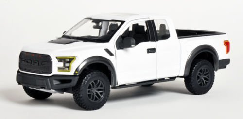 Maisto 2017 Ford Raptor Pickup Truck 1/24 Scale Diecast Model Car White