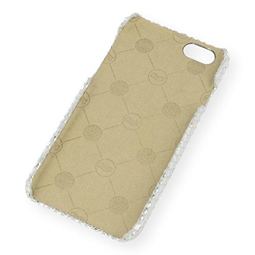 QIOTTI Q. Book Disco Premium Étui Livret en cuir véritable pour iPhone 6/6S–Argent