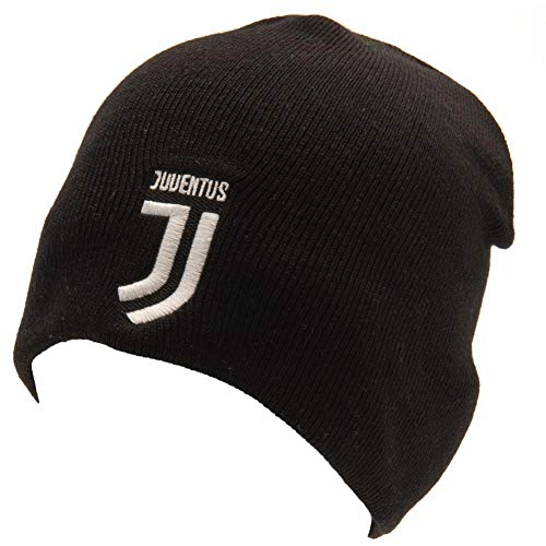 c0f084c7f44ba0 Juventus FC Official Adults Unisex Knitted Hat (One Size) (Black/White)