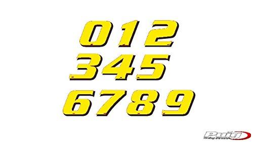 Puig 4258G Adhesivo Nú mero 5, 115 mm, Color Amarillo, 5 Unidades