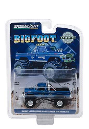 [해외]1974 포드 F-250 몬스터 트럭 빅풋 #1 블루 오리지널 몬스터 트럭 (1979) 취미 독점 164 다이캐스트 모델 카 그린라이트 29934 / 1974 Ford F-250 Monster Truck Bigfoot #1 Blue The Original Monster Truck (1979) Hobby Exclusive 164 Diecast Mo...