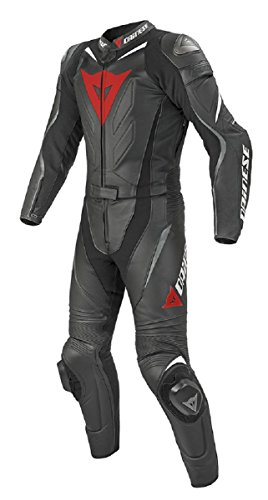 LEATHERAY Men's Fashion Motorbike Dainese Real Leather Suit with Armor Protection Grey XL ()