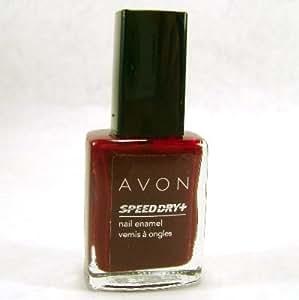 Avon Speed Dry Nail Enamel Polish Red Wine