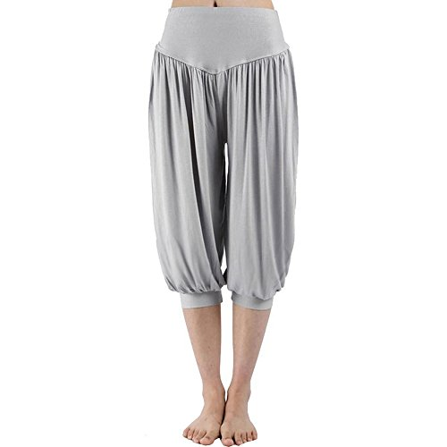Yucode Women Ladies Sport Harem Loose Yoga Elastic High Waist Shorts Pants (Croft And Barrow Womens Elastic Waist Pants)