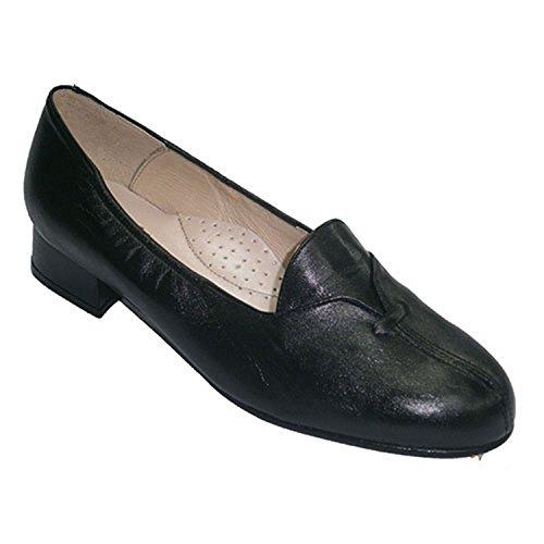 poco tacón con Roldán especiales Zapatos anchos en solapa negro Pqx4I1w