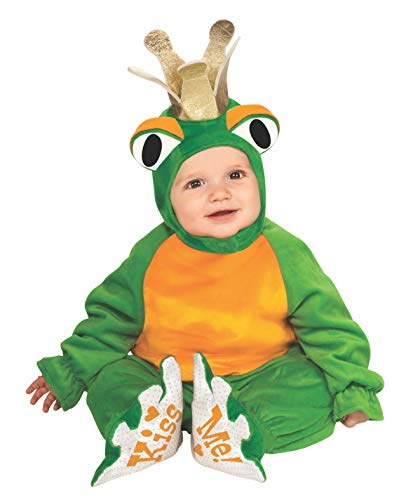 Rubie's Cuddly Jungle Frog Romper Prince Costume, Green, 12-18 Months