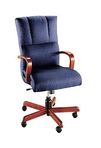 - Executive Swivel Chair w Arms (752-Merlot Fabric)