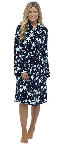 KrishWear - Robe de chambre - Femme bleu bleu marine M