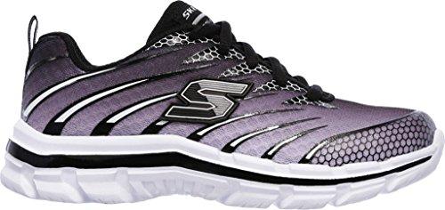 Skechers 95340llmbl - Zapatillas de malla para niño verde Lime/Blue gris/negro