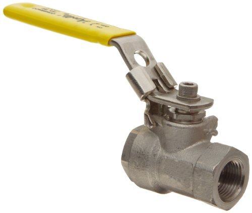 Apollo 76F-100-A Series Stainless Steel Ball Valve, Two Piece, Inline, Latch-Lock Lever with Nut, 1/2 NPT Female by Apollo Valve