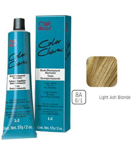 (Wella Light Ash Blonde Demi Permanent Hair Color 8A-8/1 Light Ash Blonde)