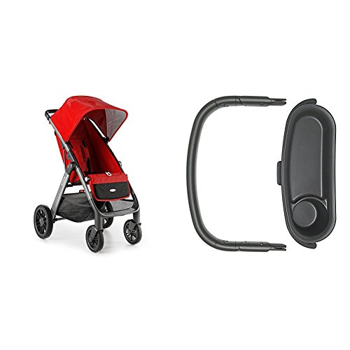 OXO Tot Cubby Plus Stroller, Red with Bumper Bar and Snac...