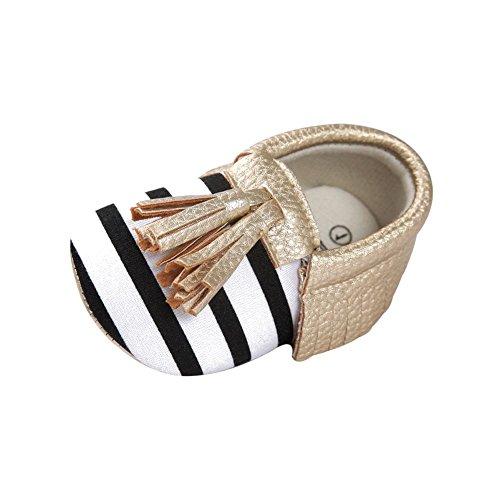 ESHOO recién nacido bebé suave soled zapatos de cuna Prewalker 0–18M PH Talla:0-6 meses BWJ