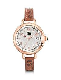FRYE MELISSA - Reloj de pulsera para mujer, acero inoxidable, correa de piel de cuarzo japonés, café, 10 relojes informales (modelo: 37FR00019-06)