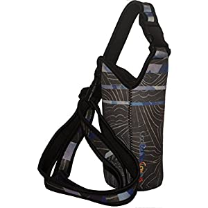 Water Bottle Holder, Neoprene Water Bottle Carrier w/Adjustable Shoulder Strap, Insulated Sling Outdoor Sports Water Bottle Bag Case Pouch Cover,Fits Bottles 1.25L or less (Blue-Black)