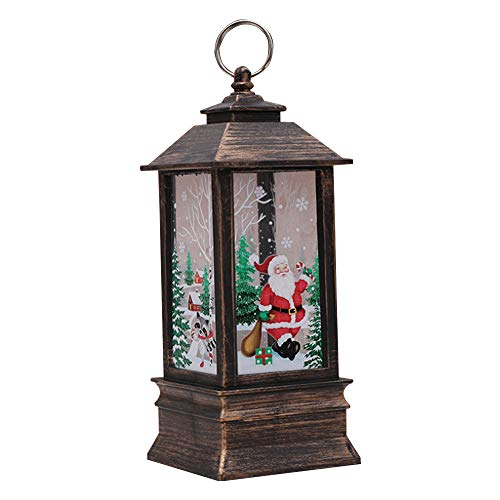 Christmas Led Lantern With Warm White Lighting Tjw Table Lamp And