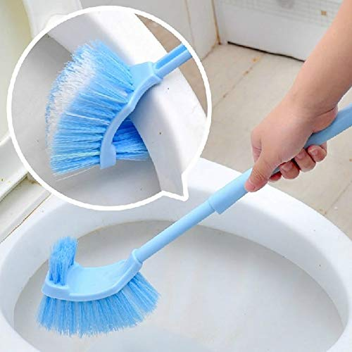 Retro Fashion Random Color Delivery, Sided Curved Handle Toilet Brush Toilet Cleaning Brush Back No Dead Toilet Cleaning Brush GuZhen