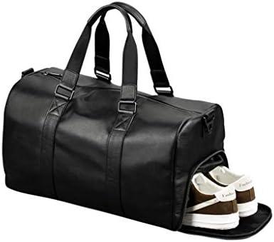 大容量のビジネス近距離荷物バッグポータブルメンズレザーゴルフスポーツバッグ防水デザインブラック HMMSP