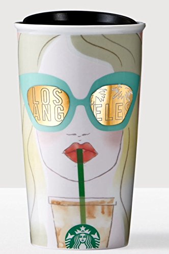 Starbucks LOS ANGELES Traveler 12oz Local Collection Double Wall Ceramic - Angeles Los Chic