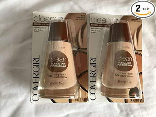 CoverGirl Clean Creamy Natural 120 Liquid Normal Skin Foundation Makeup, 1 Fluid Ounce -- 2 per case. by COVERGIRL
