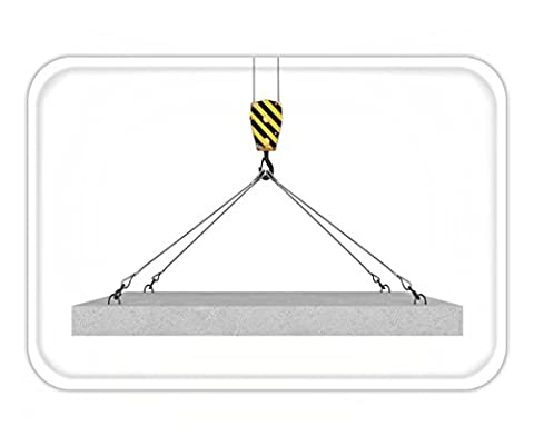 Beshowere Doormat d rendering of crane hook lifting concrete panel on the white background construction - Multi Persian Panel