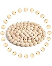 Natural Wood Beads, 120 PCS Unfinished Natural Wood Loose Beads Round Ball Wood Spacer Beads for DIY Crafts (0.47 Inch/ 12MM)