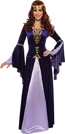 Rubie's Costume Deluxe Guinevere With Headpiece, Purple/Black, Small Costume