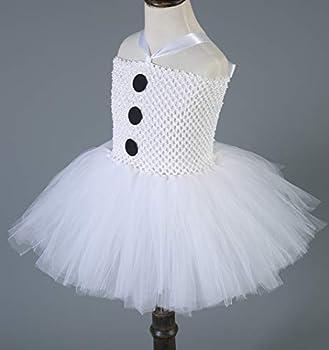 Tutu Dreams Girls Snowman Costume with Scarf 1-12Y White Tutu Dress Halloween Christmas Party