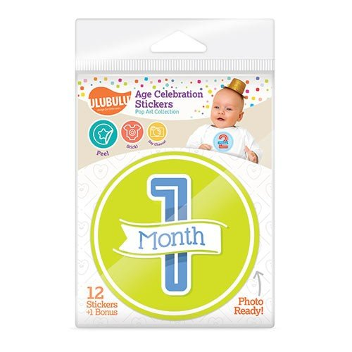 Age Celebration Stickers - Ulubulu - Pop Art Design Baby New