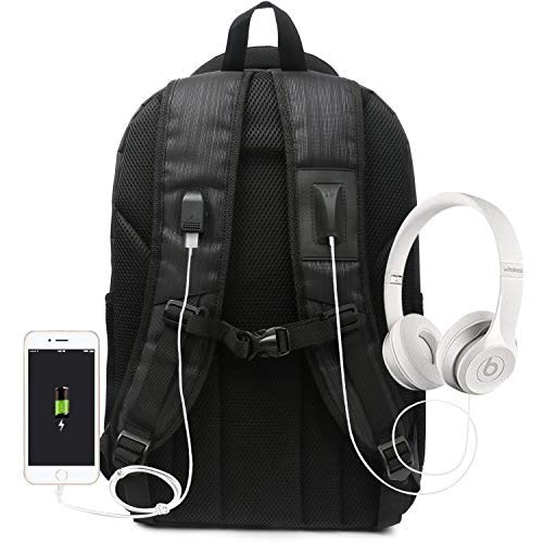Oflamn Laptop Backpack Computer Bag with USB Charging Port /& Headphone interface Fits 15.6 Inch Black GOLPGP14P
