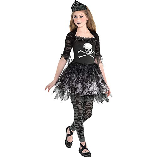 Dead Ballerina Costumes (Zombie Ballerina Dress Halloween Costume for Girls, Medium, with Included Accessories, by)