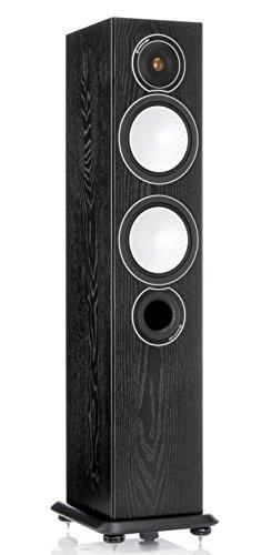 - Monitor Audio - Silver Series 6 - Floorstanding Speaker - Each - Black Oak
