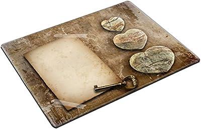 MSD Place Mat Non-Slip Natural Rubber Desk Pads design: 4402540 Vintage paper with plenty of copy space for text