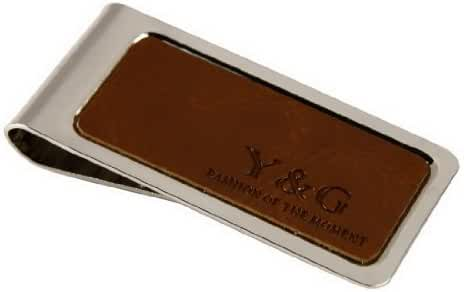 MC105 Artificial Leather stainless steel Money Clip For Men 4 color available By Y&G