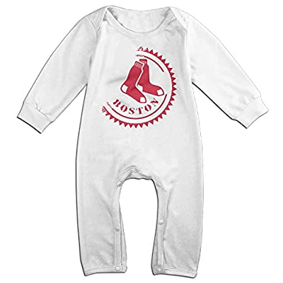 Kamici Baby Red Sox Long Sleeve Romper Suit Climb Clothes White