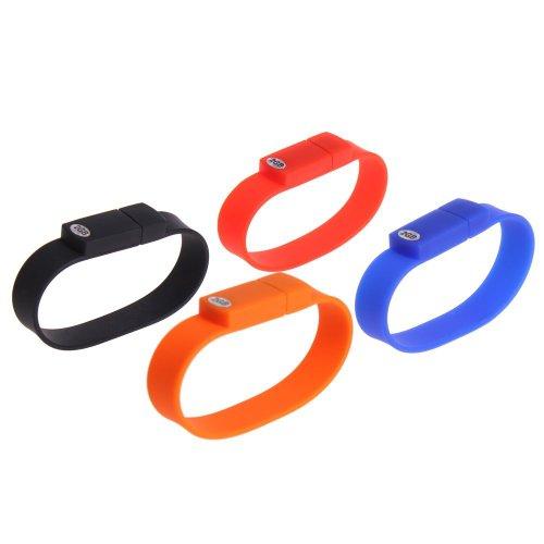 4pcs Bracelet Wristband High Speed 2GB USB Flash Drive Silicone (1 x 4pcs)